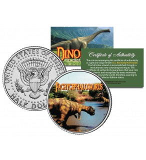 PACHYCEPHALOSAURUS Collectible Dinosaur JFK Kennedy Half Dollar US Colorized Coin