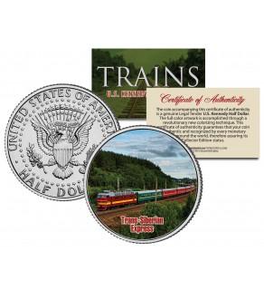 TRANS-SIBERIAN EXPRESS - Famous Trains - JFK Kennedy Half Dollar U.S. Colorized Coin