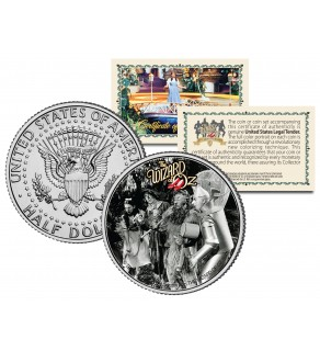 WIZARD OF OZ - In Forest - Colorized JFK Kennedy Half Dollar US Coin - Officially Licensed