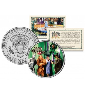 WIZARD OF OZ - The Gatekeeper - Colorized JFK Kennedy Half Dollar US Coin - Officially Licensed