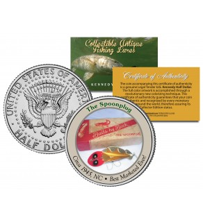 THE SPOONPLUG Collectible Antique Fishing Lures JFK Kennedy Half Dollar US Coin