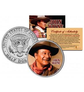"JOHN WAYNE - MOVIE "" Chisum "" JFK Kennedy Half Dollar US Coin - Officially Licensed"
