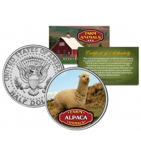 ALPACA Collectible Farm Animals JFK Kennedy Half Dollar U.S. Colorized Coin