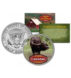 CARABAO Collectible Farm Animals JFK Kennedy Half Dollar U.S. Colorized Coin