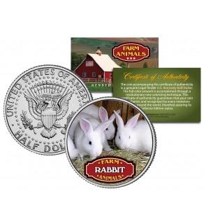 RABBIT Collectible Farm Animals JFK Kennedy Half Dollar U.S. Colorized Coin