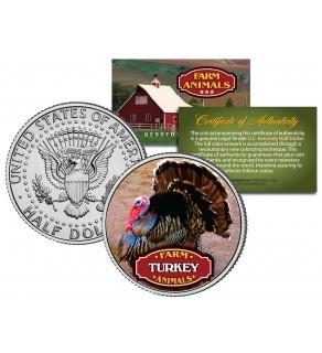 TURKEY Collectible Farm Animals JFK Kennedy Half Dollar US Colorized Coin