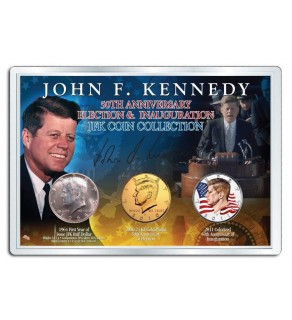PRESIDENT JOHN F. KENNEDY 50th Anniversary Presidential 3-Coin Set 1964 SILVER