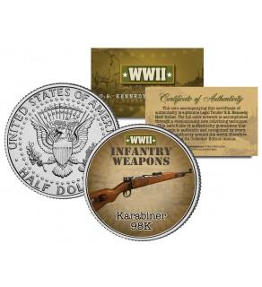 KARABINER 98K - WWII Infantry Weapons - JFK Kennedy Half Dollar U.S. Coin