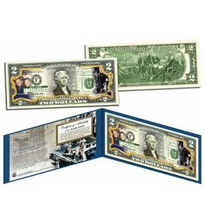 John F Kennedy - 50th ANNIVERSARY of ASSASSINATION - Legal Tender US $2 Bill JFK