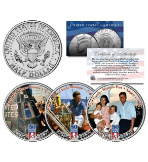 JOHN F KENNEDY - First Family - 2014 50th Anniversary JFK Half Dollar U.S. 3-Coin Set
