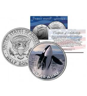 KILLER WHALE JFK Kennedy Half Dollar US Colorized Coin