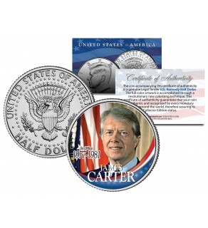 President JAMES Jimmy CARTER - In Office 1977-1981 - JFK Half Dollar U.S. Coin