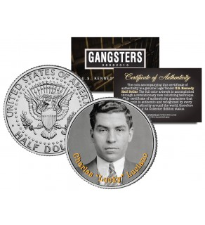 CHARLES LUCKY LUCIANO Gangsters JFK Kennedy Half Dollar US Colorized Coin