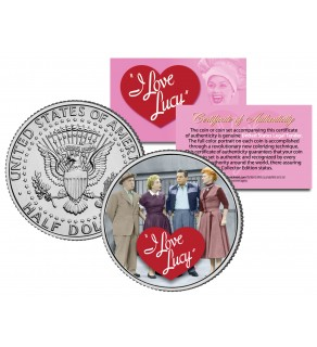 I Love Lucy - Cast - JFK Kennedy Half Dollar US Coin - Lucille Ball - Officially Licensed