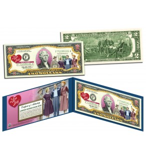 I LOVE LUCY Legal Tender U.S. Colorized $2 Bill - OFFICIALLY LICENSED - Lucille Ball