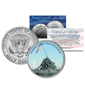 MARINE CORPS WAR MEMORIAL - Washington D.C. - JFK Kennedy Half Dollar U.S. Coin - Iwo Jima
