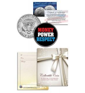 MONEY POWER RESPECT - Floyd Mayweather - JFK Kennedy Half Dollar US Colorized Coin