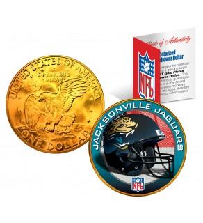 JACKSONVILLE JAGUARS NFL 24K Gold Plated IKE Dollar US Colorized Coin - Officially Licensed