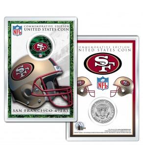 SAN FRANCISCO 49ERS Field NFL Colorized JFK Kennedy Half Dollar U.S. Coin w/4x6 Display