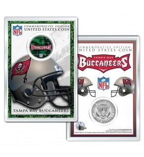 TAMPA BAY BUCCANEERS Field NFL Colorized JFK Kennedy Half Dollar U.S. Coin w/4x6 Display