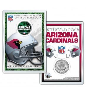 ARIZONA CARDINALS Field NFL Colorized JFK Kennedy Half Dollar U.S. Coin w/4x6 Display