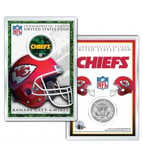 KANSAS CITY CHIEFS Field NFL Colorized JFK Kennedy Half Dollar U.S. Coin w/4x6 Display