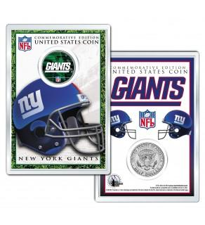 NEW YORK GIANTS Field NFL Colorized JFK Kennedy Half Dollar U.S. Coin w/4x6 Display