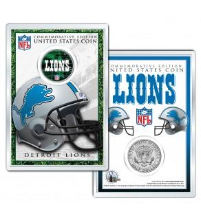 DETROIT LIONS Field NFL Colorized JFK Kennedy Half Dollar U.S. Coin w/4x6 Display