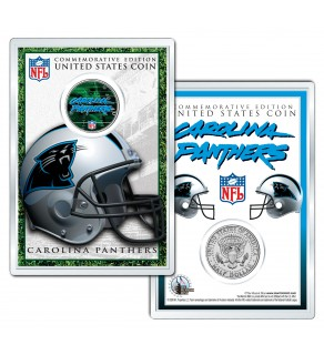 CAROLINA PANTHERS Field NFL Colorized JFK Kennedy Half Dollar U.S. Coin w/4x6 Display