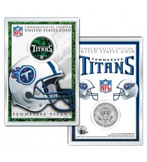 TENNESSEE TITANS Field NFL Colorized JFK Kennedy Half Dollar U.S. Coin w/4x6 Display