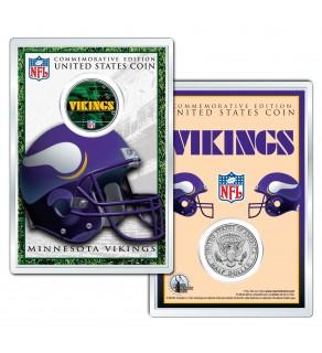 MINNESOTA VIKINGS Field NFL Colorized JFK Kennedy Half Dollar U.S. Coin w/4x6 Display