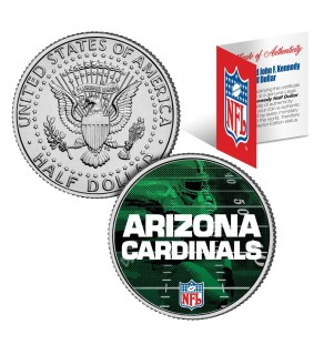 ARIZONA CARDINALS Field JFK Kennedy Half Dollar US Colorized Coin - NFL Licensed