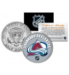COLORADO AVALANCHE NHL Hockey JFK Kennedy Half Dollar U.S. Coin - Officially Licensed