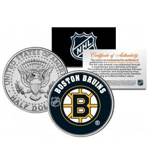 BOSTON BRUINS NHL Hockey JFK Kennedy Half Dollar U.S. Coin - Officially Licensed