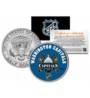 WASHINGTON CAPITALS NHL Hockey JFK Kennedy Half Dollar U.S. Coin - Officially Licensed