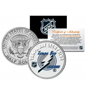 TAMPA BAY LIGHTNING NHL Hockey JFK Kennedy Half Dollar U.S. Coin - Officially Licensed