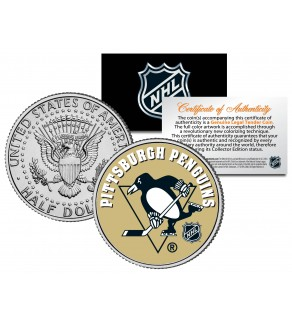 PITTSBURGH PENGUINS NHL Hockey JFK Kennedy Half Dollar U.S. Coin - Officially Licensed
