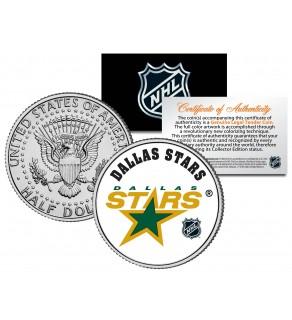 DALLAS STARS NHL Hockey JFK Kennedy Half Dollar U.S. Coin - Officially Licensed