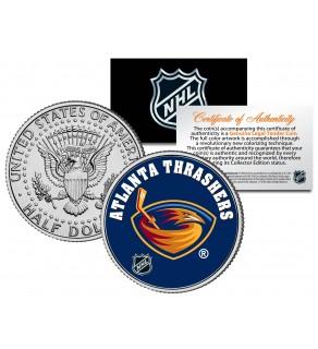 ATLANTA THRASHERS NHL Hockey JFK Kennedy Half Dollar U.S. Coin - Officially Licensed