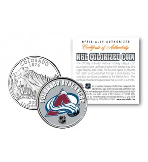 COLORADO AVALANCHE NHL Hockey Colorado Statehood Quarter U.S. Colorized Coin - Officially Licensed