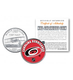CAROLINA HURRICANES NHL Hockey North Carolina Statehood Quarter U.S. Colorized Coin - Officially Licensed
