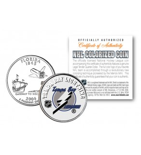TAMPA BAY LIGHTNING NHL Hockey Florida Statehood Quarter U.S. Colorized Coin - Officially Licensed