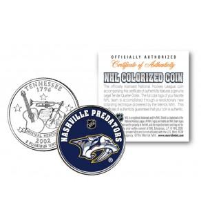 NASHVILLE PREDATORS NHL Hockey Tennessee Statehood Quarter U.S. Colorized Coin - Officially Licensed