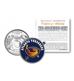 ATLANTA THRASHERS NHL Hockey Georgia Statehood Quarter U.S. Colorized Coin - Officially Licensed