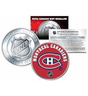 MONTREAL CANADIENS Royal Canadian Mint Medallion NHL Colorized Coin - Officially Licensed