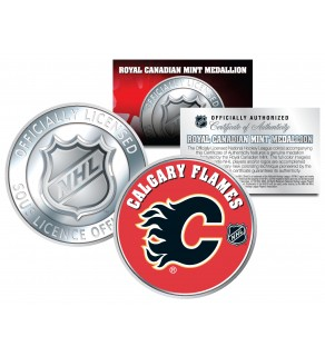CALGARY FLAMES Royal Canadian Mint Medallion NHL Colorized Coin - Officially Licensed