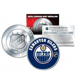EDMONTON OILERS Royal Canadian Mint Medallion NHL Colorized Coin - Officially Licensed