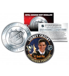 2005-06 SIDNEY CROSBY Royal Canadian Mint Medallion NHL #1 DRAFT PICK Rookie Coin - Officially Licensed