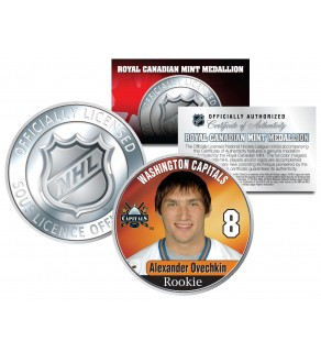 2005-06 ALEXANDER OVECHKIN Royal Canadian Mint Medallion NHL Rookie Coin - Officially Licensed