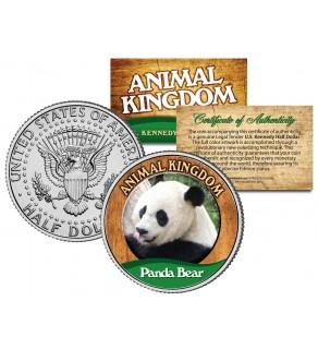 PANDA BEAR - Animal Kingdom Series - JFK Kennedy Half Dollar U.S. Colorized Coin